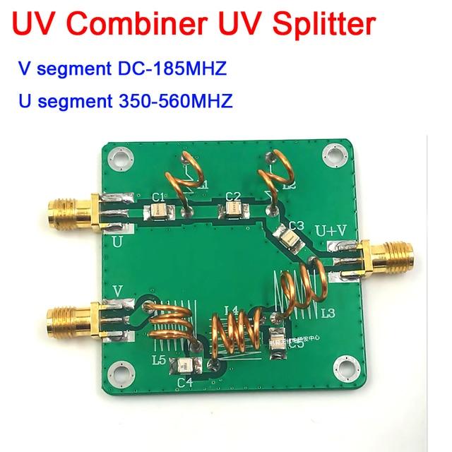 Dykb UV segnale RF Combinatore UV Splitter UV Splitter LC Filtro Ad Alta Frequenza Combinatore RF Antenna Combinatore U 350 560MHZ V DC 185MH