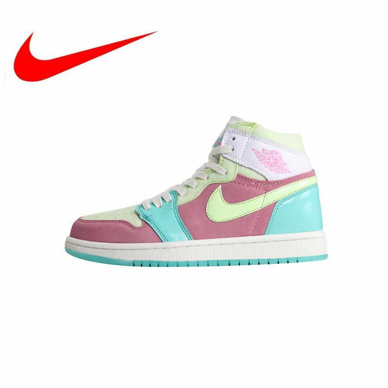 79e0877262b6 New High Quality Nike Air Jordan 1 Easter Women s Skateboarding Shoes  Outdoor Sneakers Lightweight Shock Absorption
