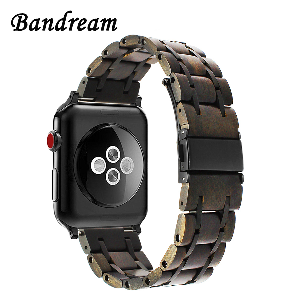 Genuine Nature Wood + Stainless Steel Watchband for iWatch Apple Watch 38mm 40mm 42mm 44mm Series 4 3 2 1 Band Wrist Strap BeltGenuine Nature Wood + Stainless Steel Watchband for iWatch Apple Watch 38mm 40mm 42mm 44mm Series 4 3 2 1 Band Wrist Strap Belt
