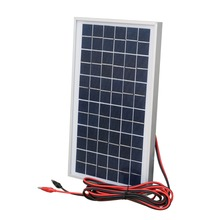 10W solar panel  with 3A controller and battery clips 10w 12v solar system