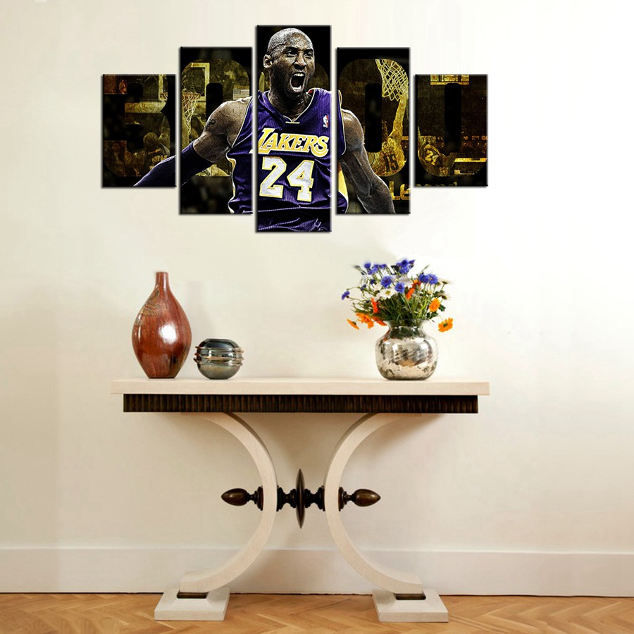 Legend Star Kobe Bryant Los Angeles Lakers Wall Art Stickers Art Oil On Canvas For Boys