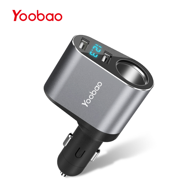 Yoobao YB209 Car Charger 2.4A Dual USB Charger Support Car Recorder Universal Mobile Phone for iPhone 7 Samsung Xiaomi