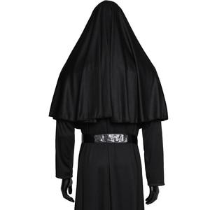 Image 4 - فيلم راهبة تأثيري Valak زي العذراء ماري مونيا ديلوكس ازياء مخيف للرجال النساء حفلة هالوين