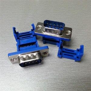 5 шт., разъем DIDC9 DB9 для последовательных портов IDC, обжимные разъемы типа D-Sub RS232 COM, 9-контактный разъем, адаптер 9p для ленточного кабеля