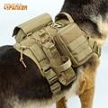 Patrulha tático Colete Cão Terno de Carga Chicote de Aplicação Da Lei a Roupa Do Cão de Caça Airsoft