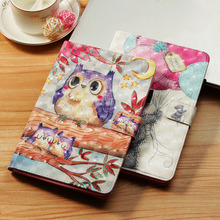 LUCKBUY Case For Amazon All New HD10 (2015/2017) 3D Printed Lovely Butterfly Flower OWL Unicorn Effiel Bear PU Leather 10