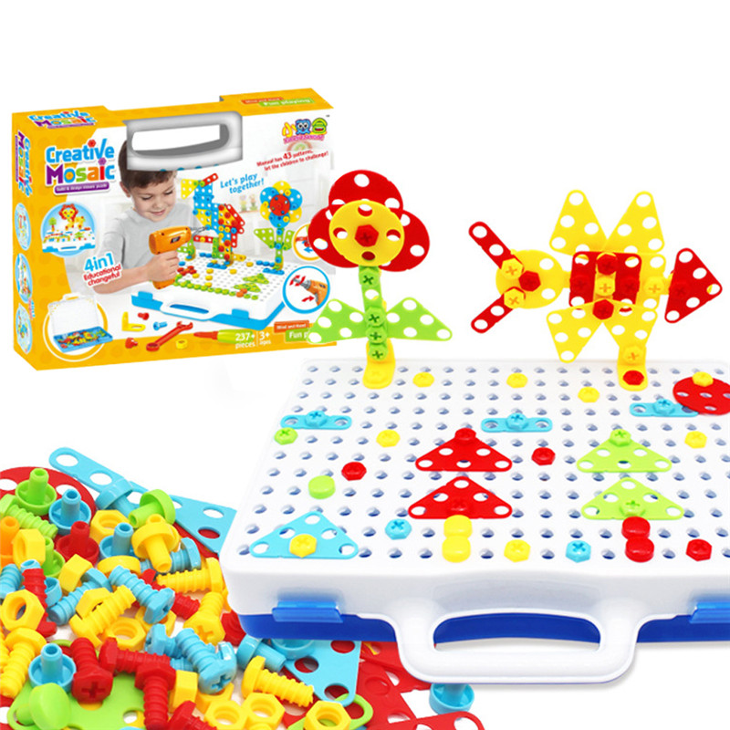 Style; In New 186 Pieces Design Drill & Play Puzzles Diy Drill Screw Toys Interactive Construction Games Building Toys For Kids#293251 Fashionable