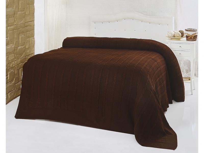 Plaid Euro KARNA, SILVIA, 220*240 cm, Brown multi function check plaid pattern cashmere warm keep scarf light brown