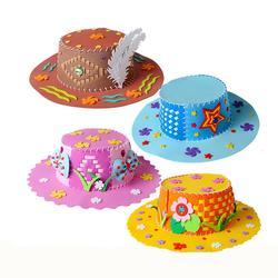 4 шт. Дети DIY игрушка шляпа мультфильма ручной EVA подготовки Кепки
