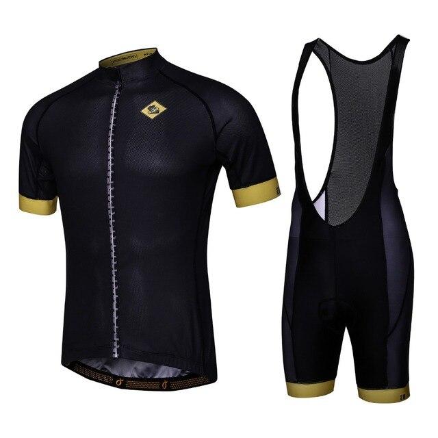 3b8a64502 Custom Men Cycling Sets Short Sleeve Jerseys+Bib Shorts Mavic Cycling  Jerseys Breathable Anti-Sweat Quick-dry Cycling Clothing
