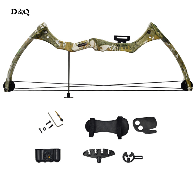 Archery Compound Bow Set Kit for Youth Children Kids Hunting Shooting Games Practice Bow with Arm Finger Guard Arrow Quiver Rest outdoor camouflage archery hunting arrow quiver water resistant archery quiver holder caza arrows bow quiver bag with zipper