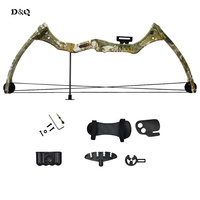Archery Compound Bow Set Kit for Youth Children Kids Hunting Shooting Games Practice Bow with Arm Finger Guard Arrow Quiver Rest