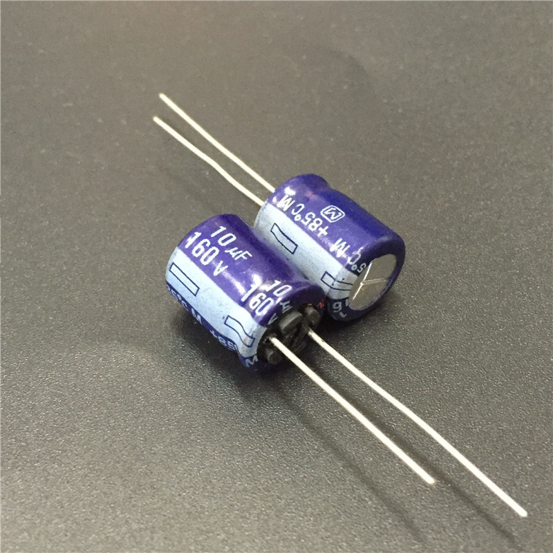 10pcs <font><b>10uF</b></font> <font><b>160V</b></font> M Series 10x12.5mm High Quality 160V10uF Audio grade Aluminum Electrolytic capacitor image