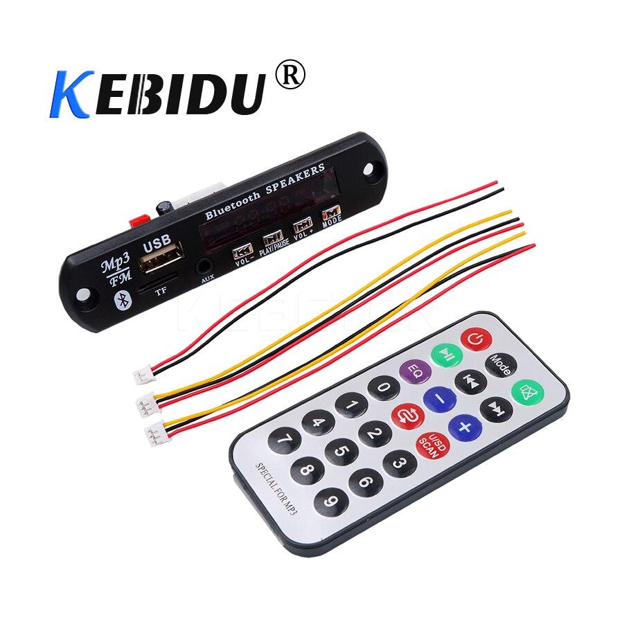 Wireless Bluetooth 12V MP3 WMA Decoder Board Audio Module USB TF Radio