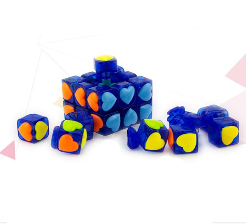 Love Puzzle Magic Cube 3x3x3 Cubo Magico Puzzle Speed Classic Magic Toys For Children Colorful Cute Cube Learning Toys in Magic Cubes from Toys Hobbies