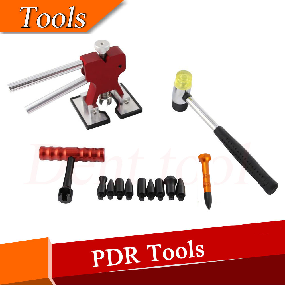 Dent Lifter with Red T-handle Puller Paintless Dent Repair & Paintless Dent Removal Tap Down Tool Dent Hammer Tool Kits  цены