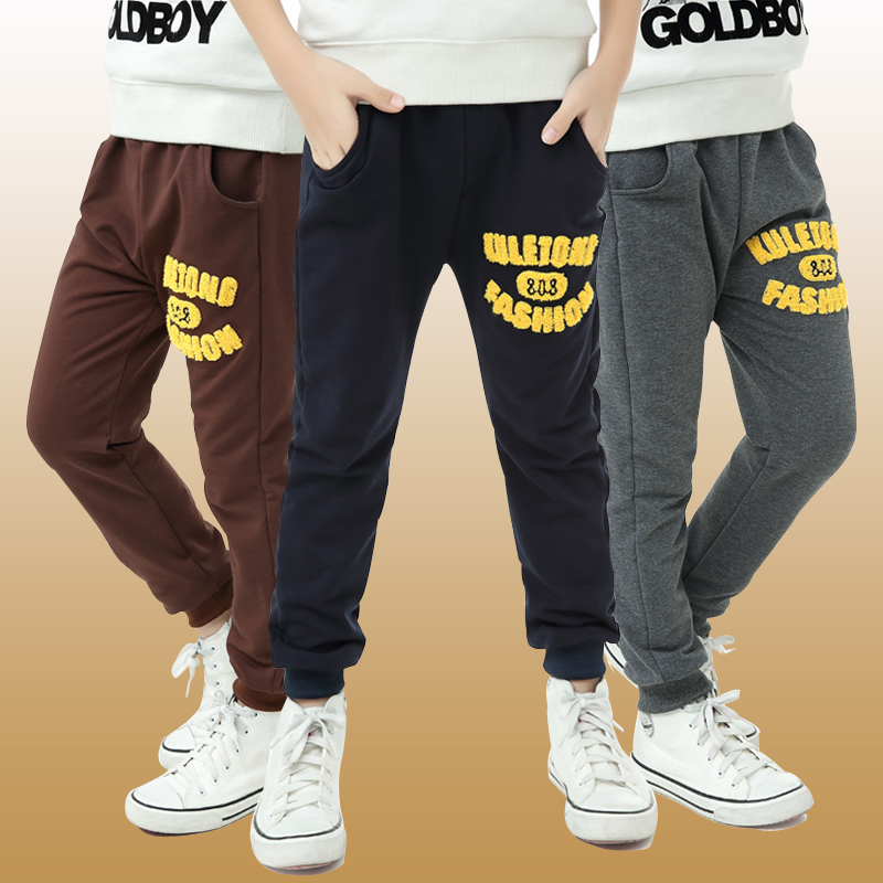 6 spring male child sports pants 7 spring 8 100% child casual cotton pants 9 spring and autumn trousers boy primary school