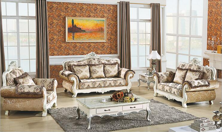 living room furniture modern fabric sofa European sectional sofa set a1257