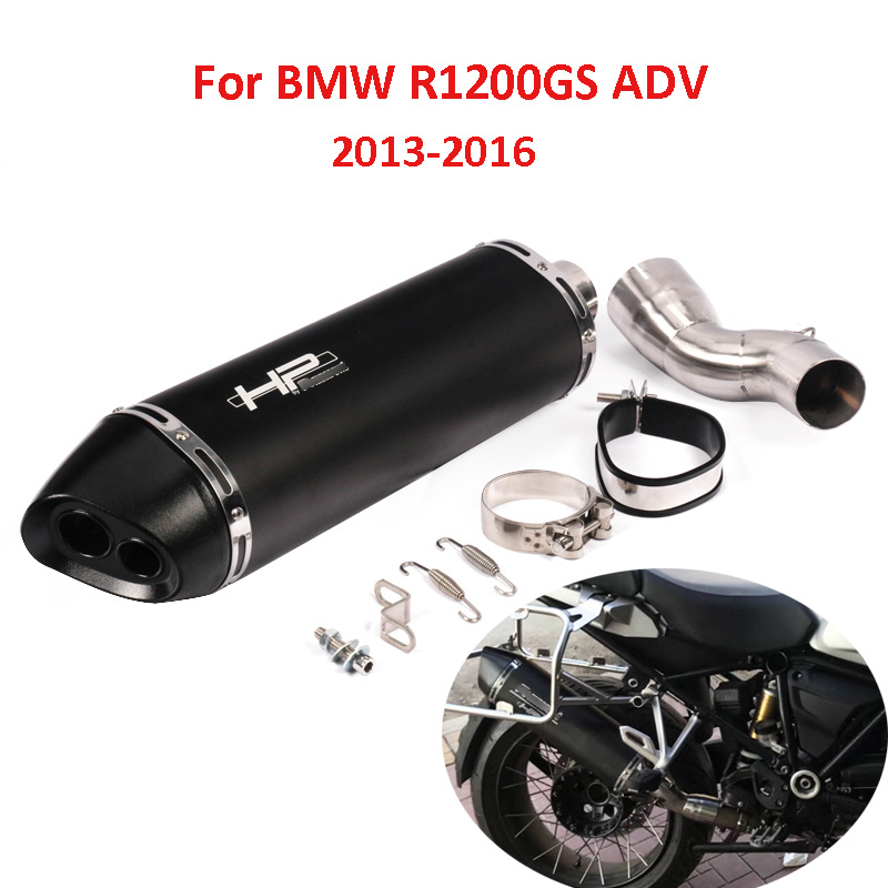 Motorcycle Exhaust System Muffler Tip Slip On Mid Link Pipe Whole Set Pipe For BMW R1200GS