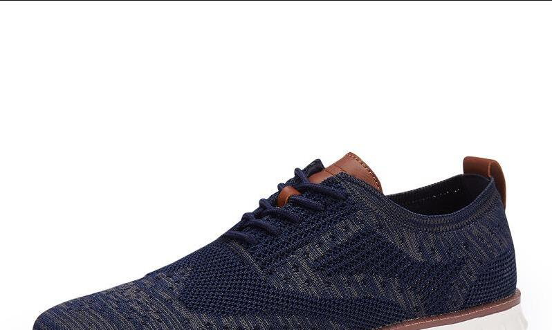 HTB1MZ49XQL0gK0jSZFAq6AA9pXak Casual Knitted Mesh Men's Shoes Solid Shallow Lace Up Lightweight Soft Men Sneakers Shoes Breathable Man Footwear Flats 39-48