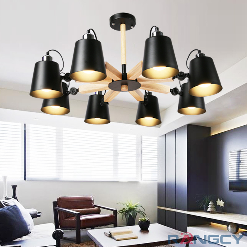 Colorful Minimalist Design: Fashion Colorful Modern Wood Ceiling Lights Lamparas