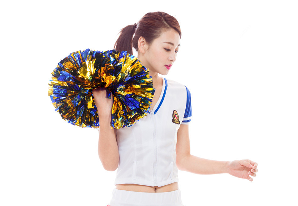 Free shipping Sports pompoms Cheerleader pompons High quality Cheerleading supplies Color and
