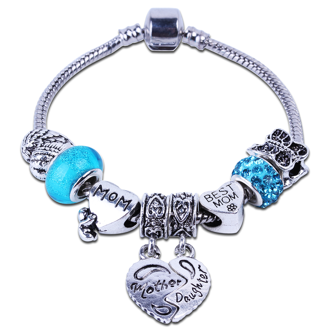 Fashion European Baby Love Best Mom Charm Bracelet Diy Beads Fits Original  Bracelets & Bangles Wholesale
