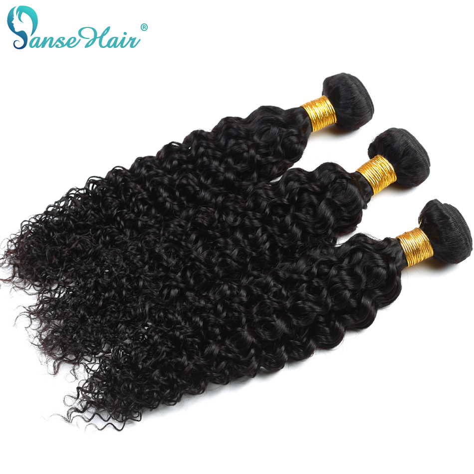 Kinky Curly Panse Hair European Hair 4 bundles Per Lot Non Remy Human Hair Weaving Customized