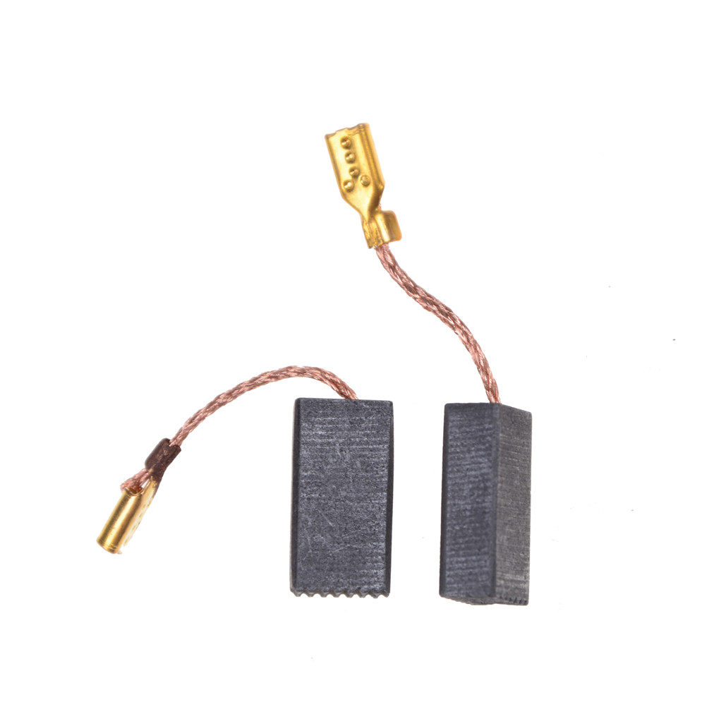 10pcs/lot Graphite Copper Motor Carbon Brushes Set Tight Copper Wire for Electric Hammer/Drill Angle Grinder 15*8*5mm 10pcs wire leads 5x10x24mm electric generator motor carbon brushes alternator power tool generic for car vehicle wiper regulator