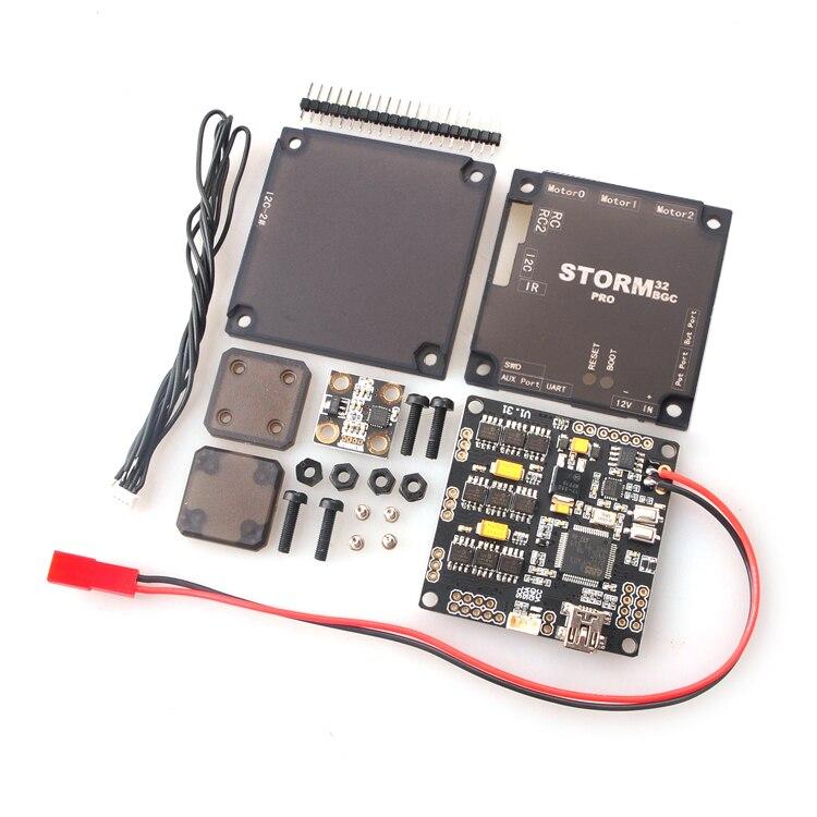 F18889 Versione Aggiornata Storm32BGC Pro 32Bit Gimbal Scheda Controller Dual Giroscopio w/Anti-interferenza Modulo per Multicopter