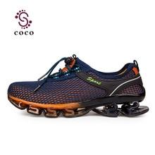 2016 Nuevo Super Cool zapatos corrientes de los hombres zapatos de deporte al aire libre de TORSIÓN de Amortiguación de los hombres zapatillas de deporte Profesional zapatos atléticos más el tamaño