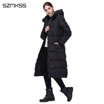 2018 new winter parka women fashion trend Slim cotton coat and long hooded solid color warm cotton clothing long sleeve mujer 3