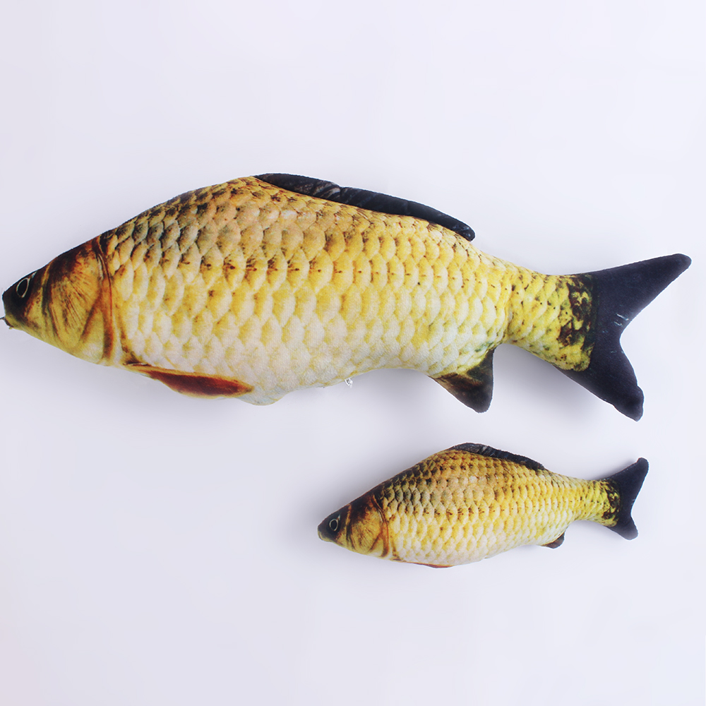 Plush 3D Carp Fish-Shaped Cat Toy Cat Chewing Mint Fish Filled Pillow Doll Toy Vivid Cute Simulation Interactive Training Toy 4