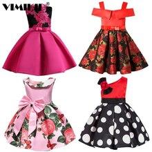 VIMIKID New Fashion Sequin Flower Dress Party Birthday Weddi