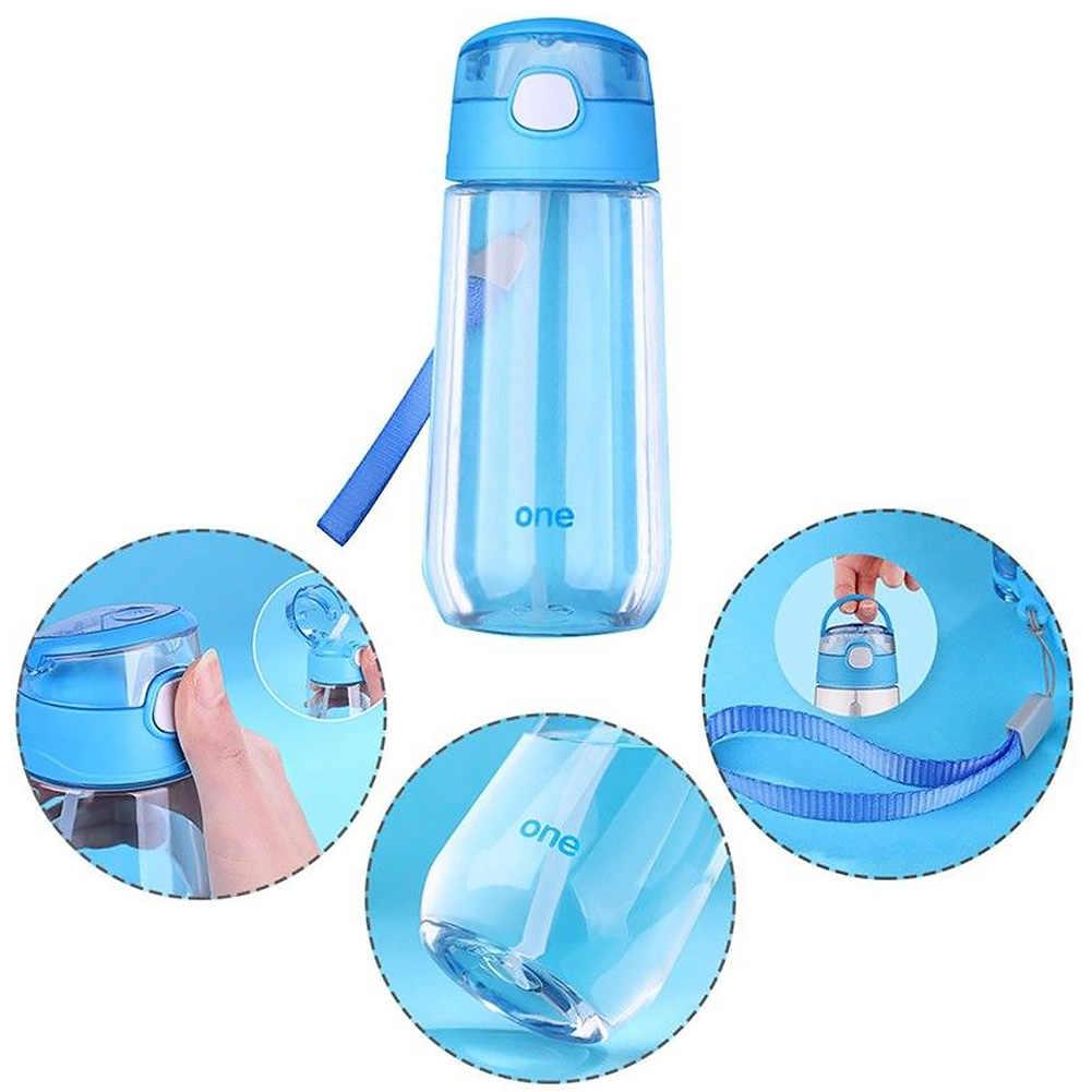 Питьевая чашка студент Сок Спорт на открытом воздухе с соломинкой школы мультфильм милый портативный бутылка для воды подарок детски