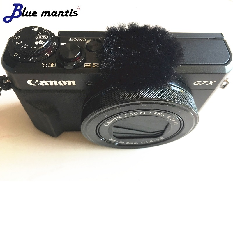 10PCS Blue Mantis Micromuff The Original Wind Muffler For Canon G7xMarkII Dead Cat Wind Muff Microphone Cover For Canon G7XMARK2