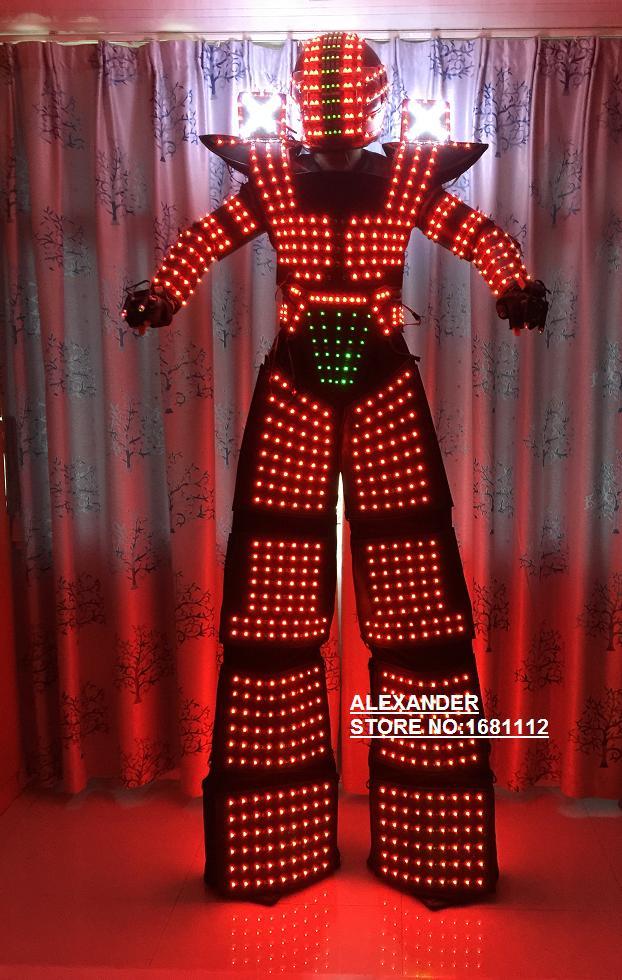 LED Costume LED Clothing Light font b suits b font LED Robot font b suits b