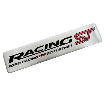 Pegatina de estilismo para coches ST para carreras QO, emblema adicional para parte trasera de carrocería insignia para la plataforma trasera para Ford Focus 2 3 ST RS Fiesta Mondeo Tuga Fusion