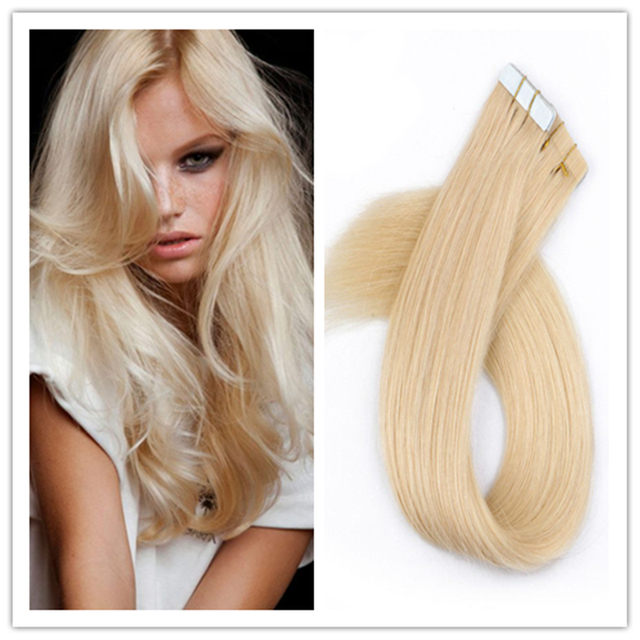 Full Shine Dark Blonde Tape In Hair Extensions Color 24 Straight