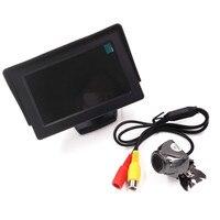 Brand New 4.3 cal Cyfrowy Monitor TFT LCD Samochód Wideo Kamera + Podkład CMOS Kamera Foteli do Tyłu Samochodu