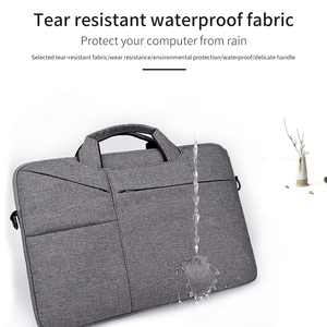 "Image 3 - Waterdicht Vrouwen Mannen Laptop Tas 13.3 15.4 ""Case voor Macbook Air 13 15 Tas 11 12 14 Macbook Pro 15 touch bar Mouw met Riem"