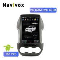 Navivox Tesla Style Android 7.1 voiture lecteur multimédia pour Ford Ranger 2011-2016 écran Vertical voiture stéréo Autoradio unité Radio