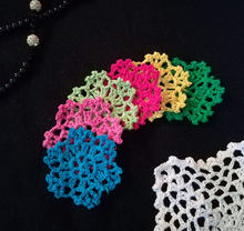 DIY Crochet Lace Applique Knit Machining Decoration Mesh Beautiful Lace Trim Knitted Color Flower Accessories breien tricot GX19(China)