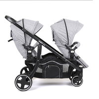 HK free High quality export baby twin stroller purple 4 colors in stock four season use twin kids baby car