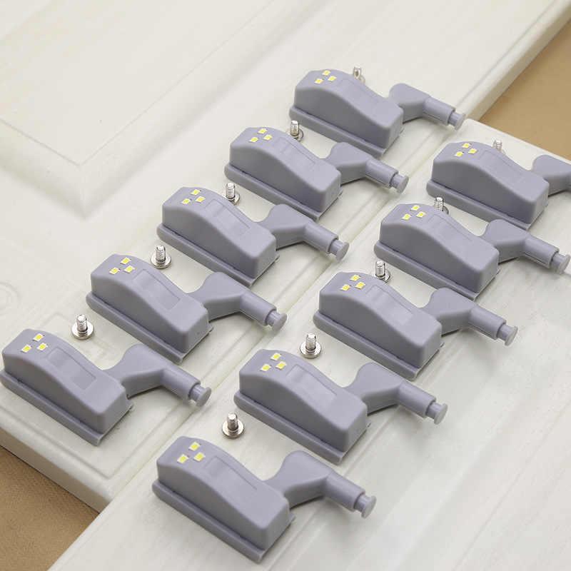 1 шт. светодиодный светильник под шкаф универсальное освещение для гардероба сенсор светодиодный Armario внутренняя шарнирная лампа для шкафа кухни