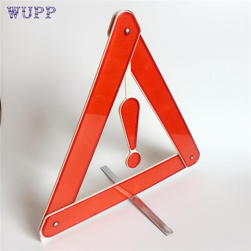 wupp Top Quality New Folding Car Emergency Tripod Reflective Automobile Traffic Warning stop sign Aug.17
