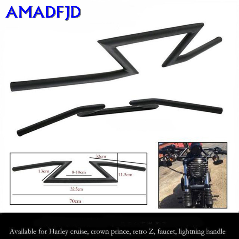 Motorcycle modification 22MM caliber applies to ForHarley Cruise Prince retro Z-shaped faucet lightning handlebar