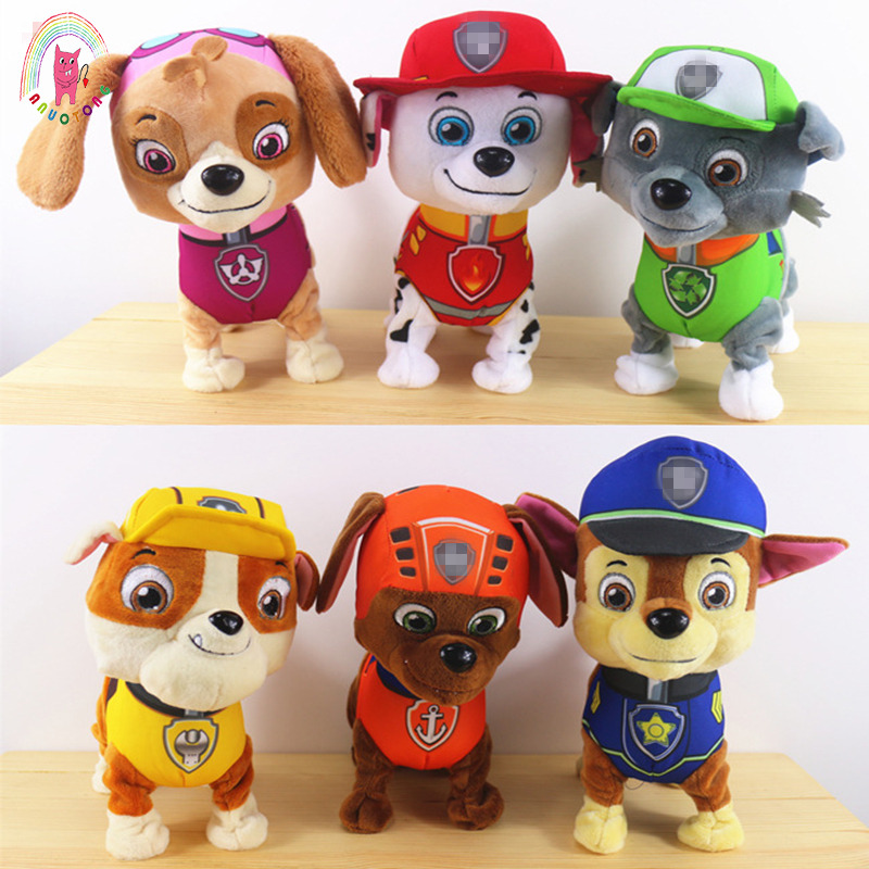 Height 24 Cm Singing Walking  Cartoon Plush Dog Toys Anime Plush Dolls Toys Children Model Dogs Children Toys  Interactive Toy