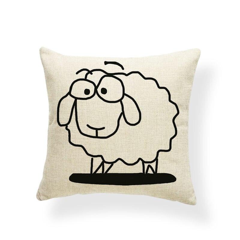 Alpaca cojín almohadas animales Oriental Sala decoración punto ...