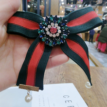 Pins And BroocWomen Pin Brooches Promotion Real Ribbon Trendy Broches Jewelry Bow Brooch Vintage Collar Pin Corsage Shirt Collar
